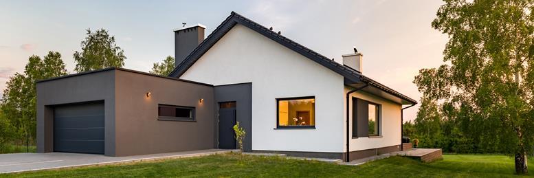Haus mit einer Gebäudeversicherung versichert